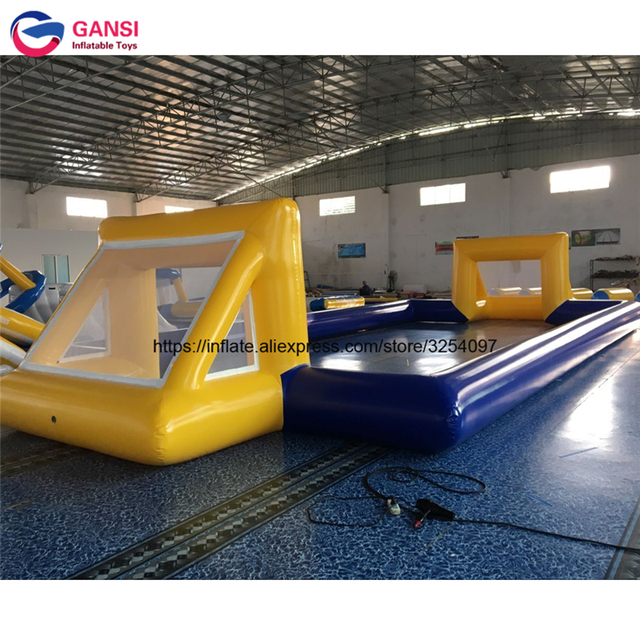 13*6m outdoor inflatable football field sport soccer game equipment PVC durable waterproof inflatable soccer field for sale