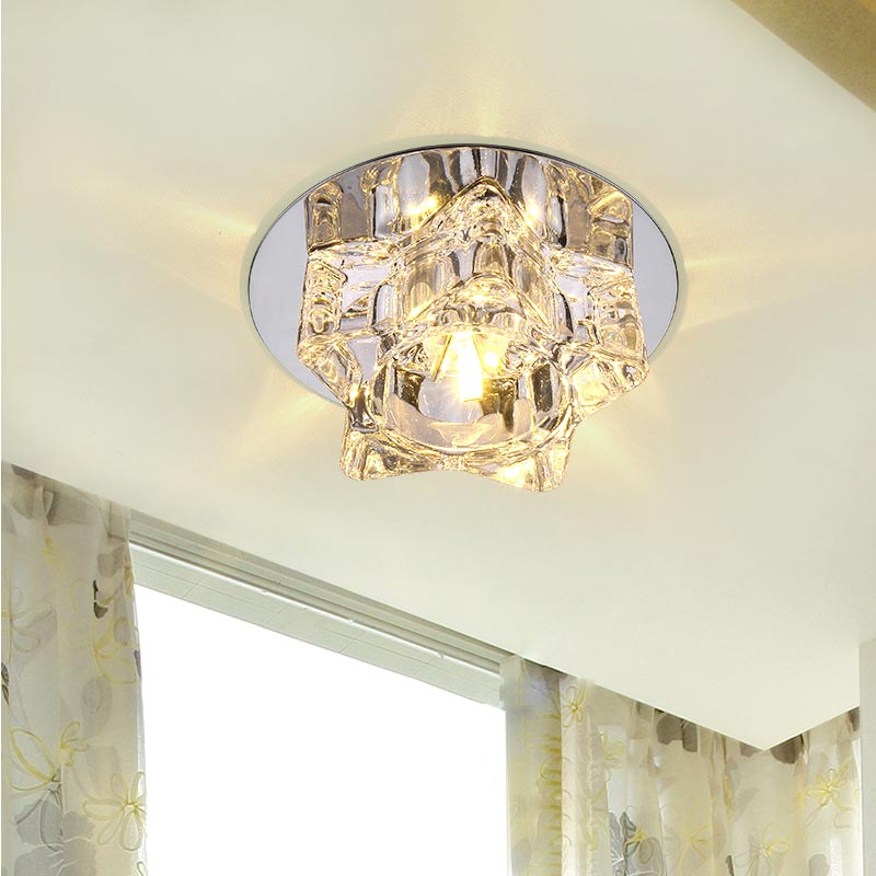 Led Light Enclosed Fixture: 3W Led Lamp Modern Ceiling Light Home Fixtures Bedroom