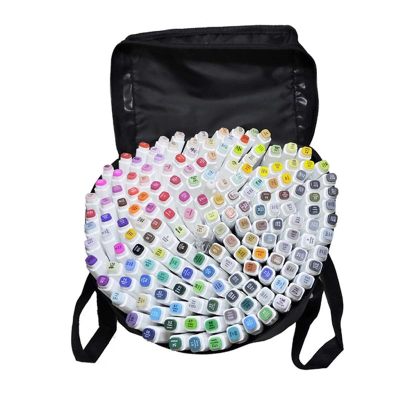 TOUCHFIVE 168 цветов одиночные художественные маркеры Кисть ручка эскиз на спиртовой основе маркеры двойная головка манга ручки для рисования то...