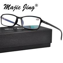Magic Jing TR очки для чтения Пресбиопия очки для мужчин и женщин добавить:+ 100~+ 400 TR6010
