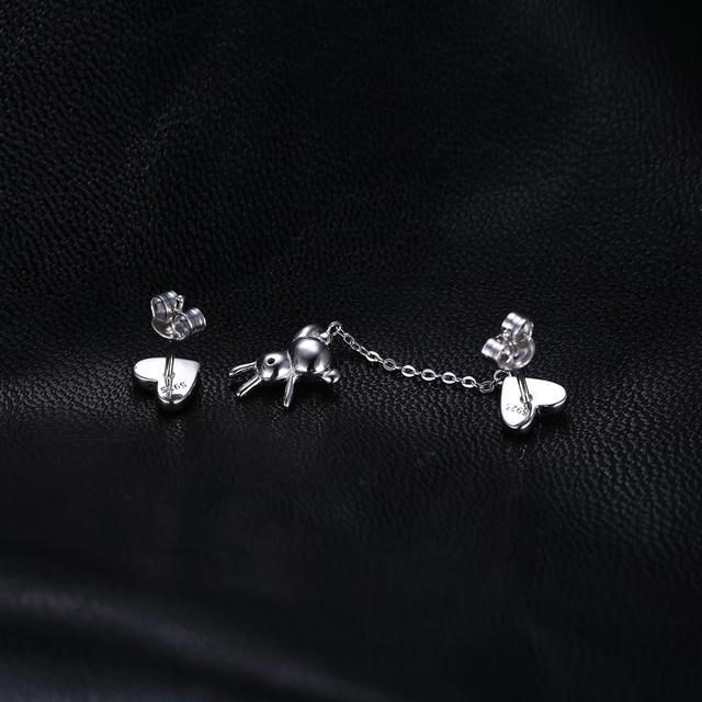 Heart Thread Drop Earrings