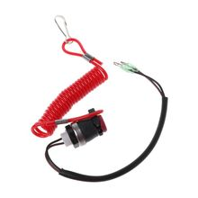 Boat Outboard Engine Motor Kill Stop Switch Motorboat Safety Tether Lanyard Cord Switch For Yamaha Marine Mercury Tohatsu qian marine boat kill stop switch safety lanyard for tohatsu outboard engine motor
