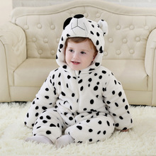 Thickening Of The Cute Baby Winter Rompers Flannel Clothes Cartoon Animal Jumpsuit Boy & Girl Romers
