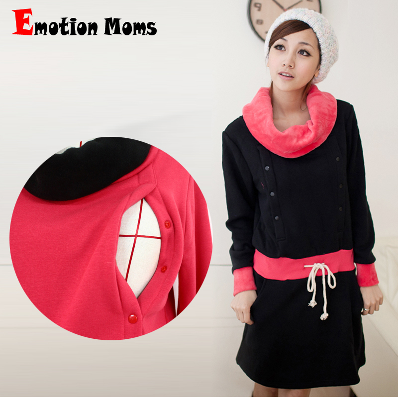 Emotion Moms New Maternity Clothes Winter Breastfeeding Dress Nursing Clothes Nursing Dresses for Pregnant Women Maternity Dress emotion moms new turtleneck maternity clothes nursing dress breastfeeding pregnancy clothes for pregnant women maternity dresses