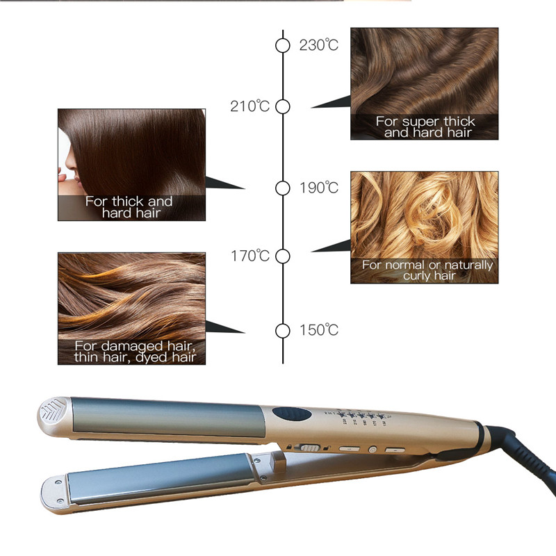 LED Digital Anion Hair Straightening Curling Iron Flat Iron Professional Hair Straightener Curler 5 File Electric Styling Tool47LED Digital Anion Hair Straightening Curling Iron Flat Iron Professional Hair Straightener Curler 5 File Electric Styling Tool47