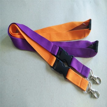 100pcs/lot Orange/ Purple Lanyard for keys Neck Strap Phone Rope Wholesale Lanyards E-Cigarette Necklace String safety clip