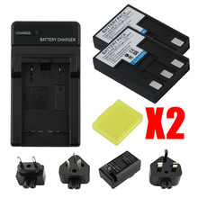RP 1100MAH Actual capacity 2PCS NB-3L Li-ion Battery + Charger for Canon IXUS I5 700 750 Camera