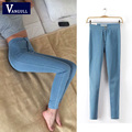 Fashion Women Jeans 2016 New Spring Autumn Print Ripped Washed Slim Jeans Vintage Woman Elastic Painted Denim Trousers Pants
