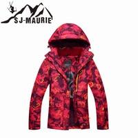 SJ Maurie Women Ski Jacket Snow Outdoor Sports Snowboarding Camouflage Winter Coat Waterproof Windbreaker Snowboard Snow Jacket