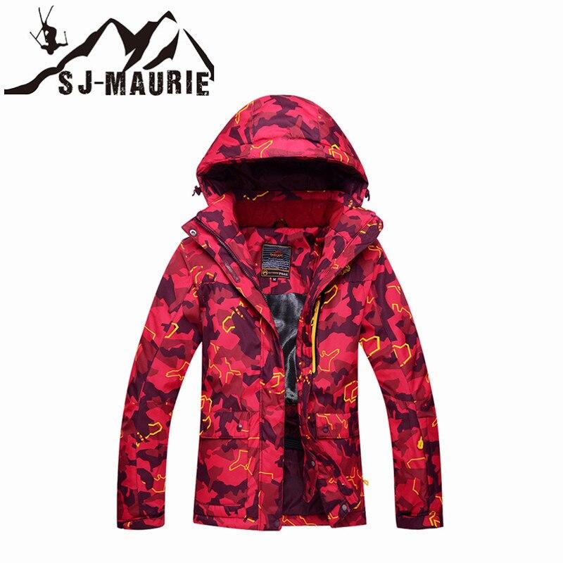 Sj-maurie veste de Ski femme neige Sports de plein air Snowboard Camouflage hiver manteau imperméable coupe-vent Snowboard veste de neige