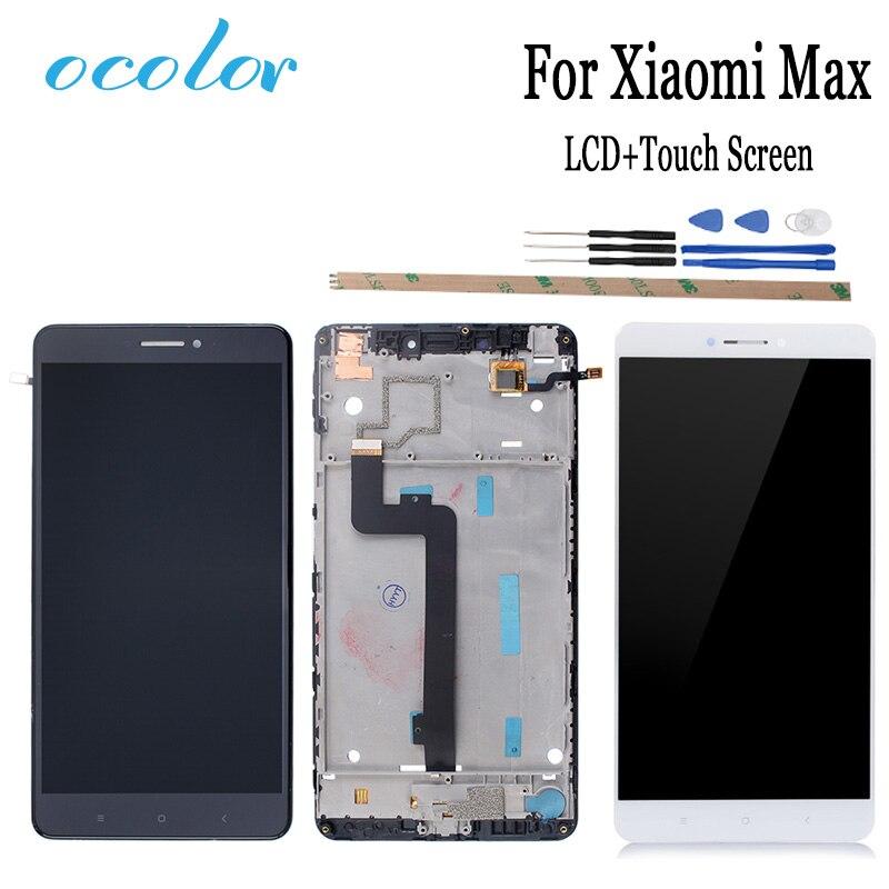 Цветной 6,44 дюймов для Xiaomi Mi Max ЖК-дисплей и сенсорный экран с рамкой сборка экрана с инструментами + клей высокое качество