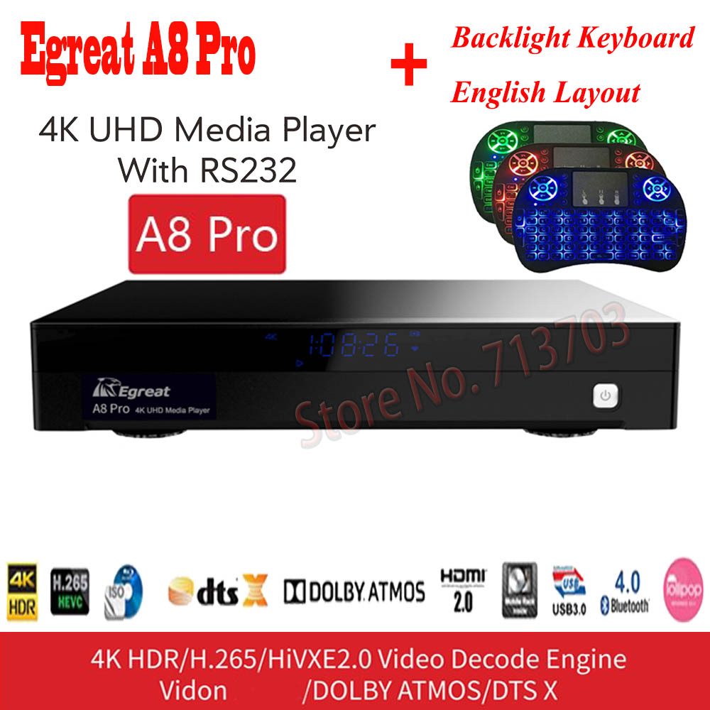 Egreat A8 Pro UHD Media font b Player b font Professional 4K Android 7 0 Smart