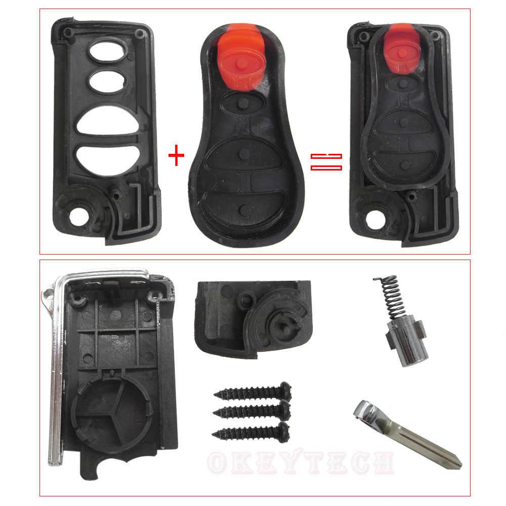OkeyTech Замена дистанционного ключа автомобиля оболочки Fob чехол 3/4 кнопки для Chrysler Sebring для Jeep Liberty для Dodge Neon Intrepid