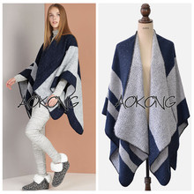 2016 New Luxury Brand Scarf Women Winter Oversize Blanket Poncho Capes Shawls Striped Thicken Scarves Wraps(China)