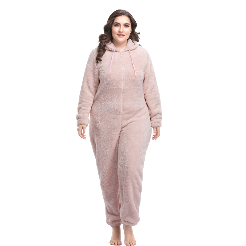 Women Plus Size Teddy Kigurumi Pajama Sets Hooded Kingurumi Warm Onesie Pyjamas Fleece Pajamas Kigurumi For Women Adults