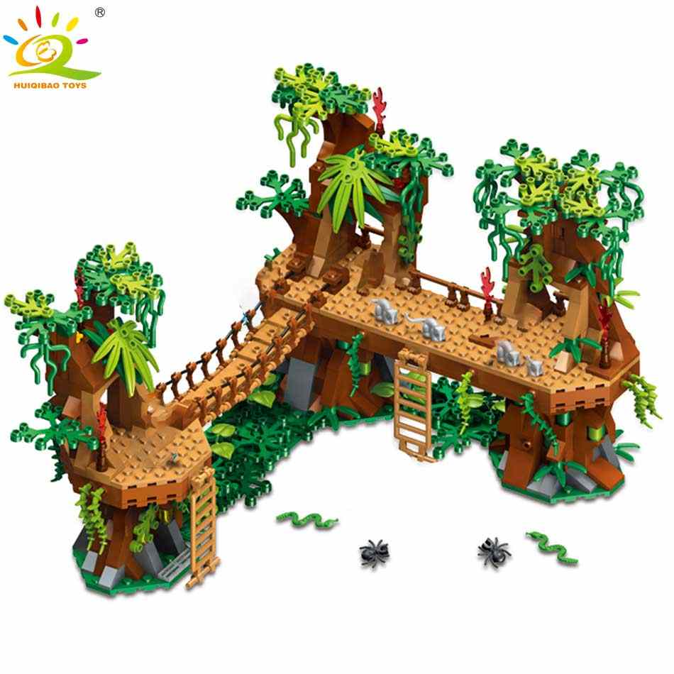 378pcs 4 in 1 Minecrafted Building Blocks Compatible city