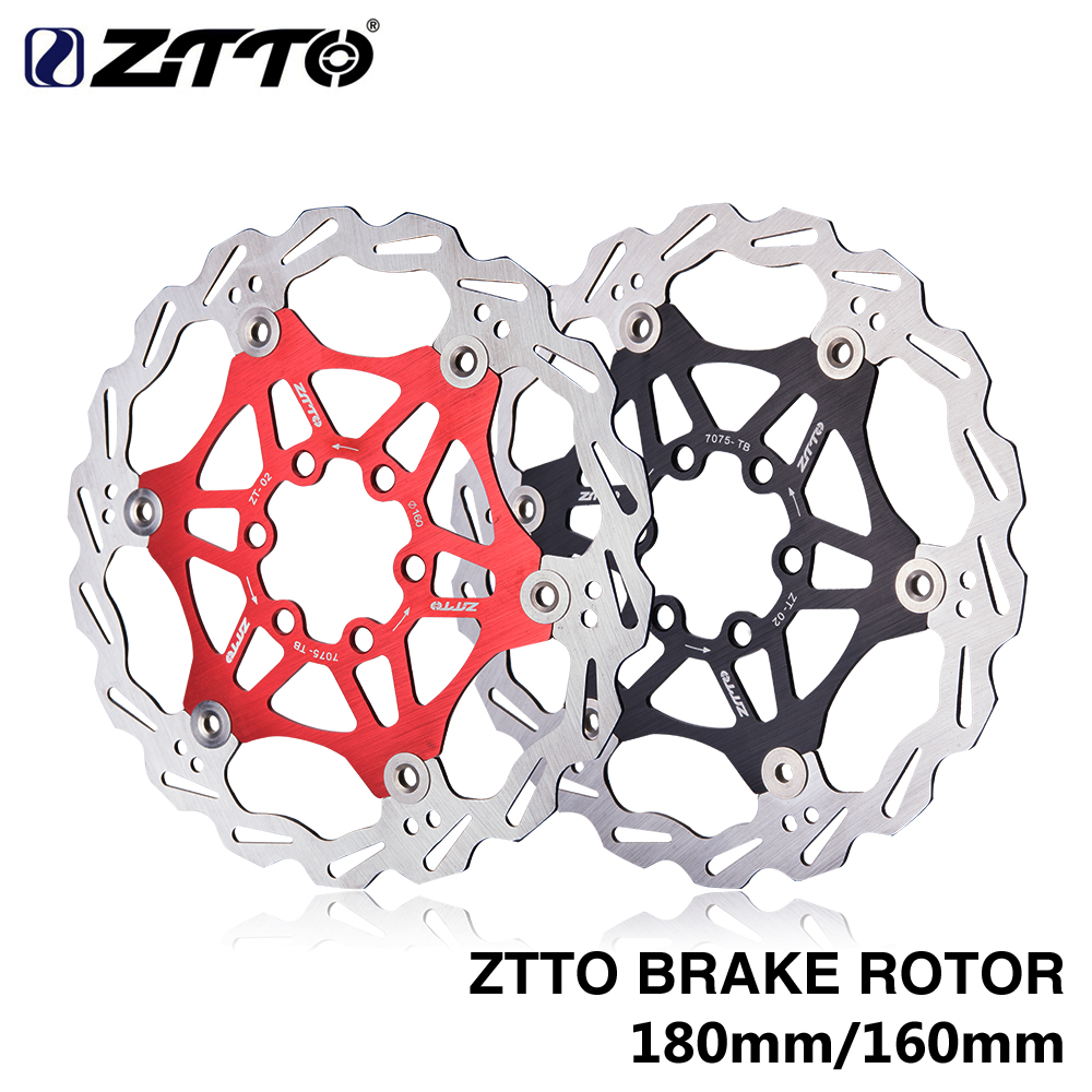ZTTO 180mm 160mm Brake Floating Rotor 7075 AL Stainless Steel 6 7 Inches Disc For Mountain Road CX Bike Bicycle parts