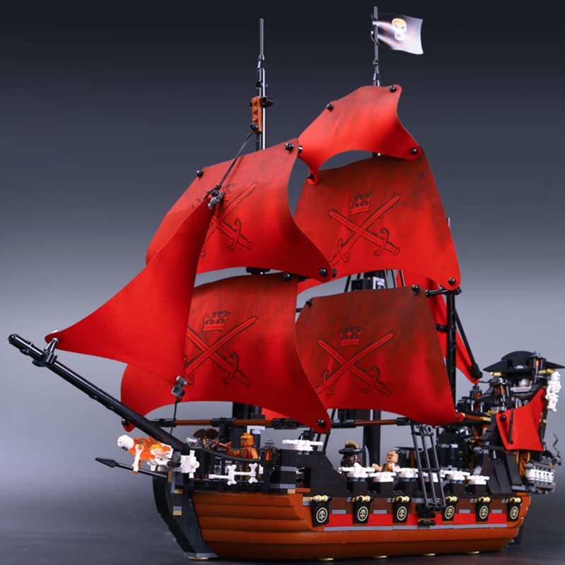Lepin 16009 Queen Anne's Revenge building bricks blocks Toys for children boys Game Model Gift Compatible with Bela Decool 4195 dhl lepin 22001 imperial warships 16009 queen anne s revenge model building blocks for children pirates toys clone 10210 4195