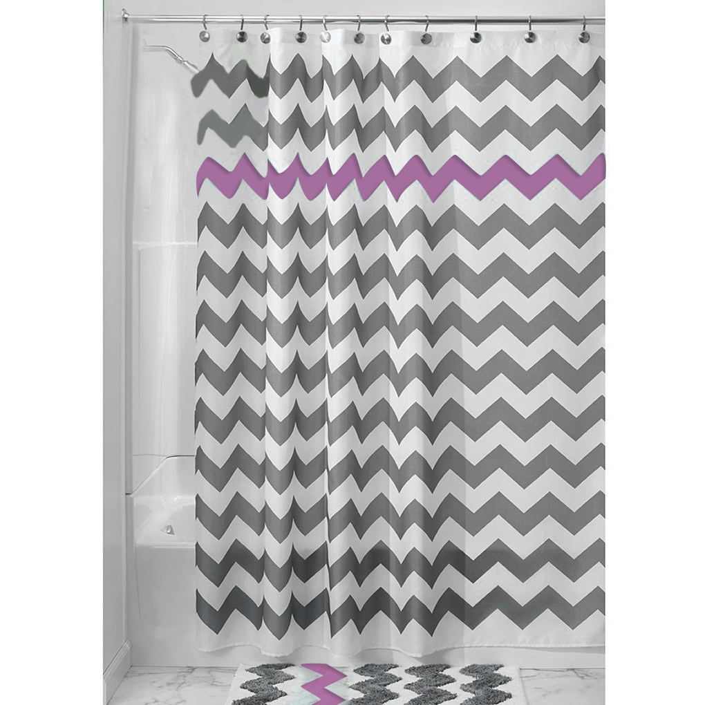 wave stripe waterproof polyester fabric shower curtain partition mainland