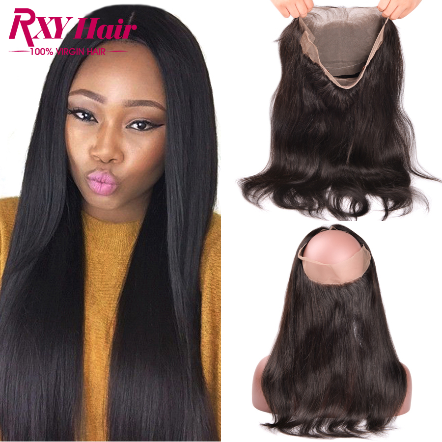 ФОТО Top 7A 360 Lace Frontal Closure Lace Frontals 360 Virgin Hair Straight Peruvian Frontal Lace Closure 360 Lace Frontal Human Hair