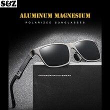Новые поляризационные солнцезащитные очки алюминиевое магниевое стекло Мужские стеклянные es Ретро брендовые роскошные мужские солнцезащитные очки es