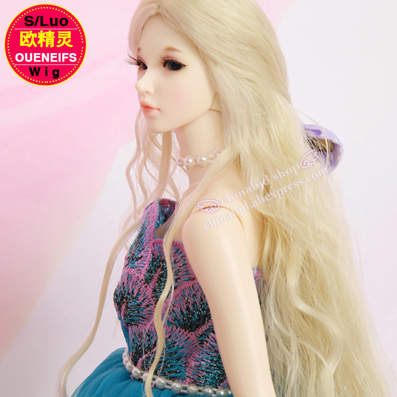 Wig For BJD Doll 1/4 bjd sd doll size 4.5-6 inch high-temperature Baby Hair Fid curly hair long hairstyle fleabane hair L05C wig for bjd doll 7 8 inch doll accessories high temperature wig 1 4 bjd doll long hairstyle l4 02 1bcolor lovely hair delicate