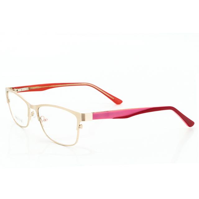 Designer Óculos de Aviador flexível Frame Ótico Óculos Quadro Mulheres de Ouro Do Metal Do Vintage Lente Clara Óculos de Armação Online