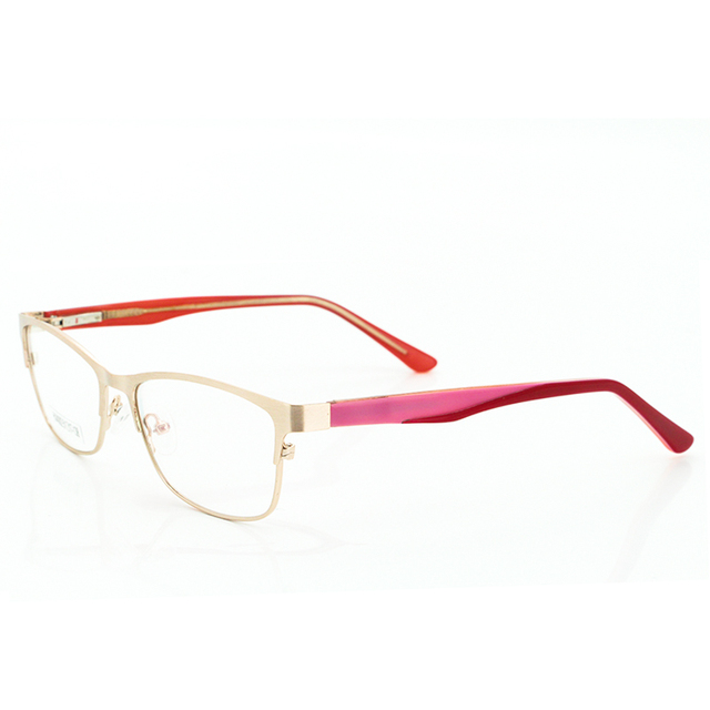 11e93b30f47 Flexible Designer Aviator Eyeglasses Frame Optical Glasses Frame Women Gold  Vintage Metal Clear Lens Glasses Frame