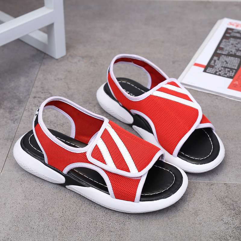 Women Summer Mesh Breathable Sandals Open Toe Flat Sandals Beach Flat Shoes for Ladies in Women 39 s Sandals from Shoes