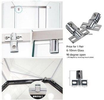 b5a862ca221c2 2 pçs lote Premintehdw Latão Zinco Caixa de Chuveiro Pivô Dobradiça de  Porta de Vidro Sem Moldura