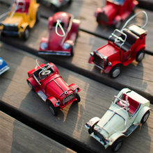 Exquisite Retro Iron Car Model Home Decor Figurines Children Kids Birthday Gifts Bar Office Table Decorations Craft Ornaments(China)