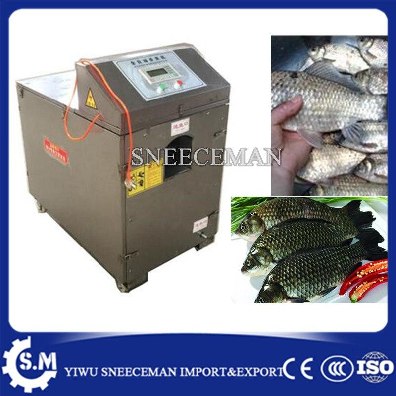 Máquina eléctrica para fabricar peces escalador, resistente al desgaste, limpieza automática de peces, sin daños a los peces
