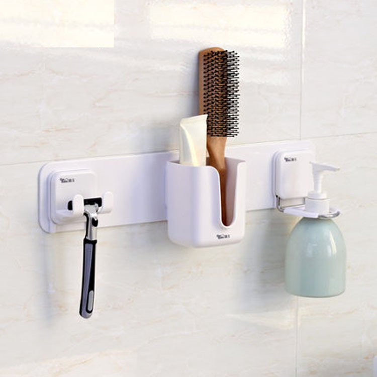 Multifunctional Adhesive Rack Razor Holder Towel Hooks E Saving Bathroom Wall Shelf Soap Dispenser In Shelves From Home Improvement On