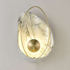 Image 1 - Shell Shape Led Wall Light Lighting Modern Creative TV Background Wall Bedside Foyer Wall Lamp Sconce Special Nordic Home Deco