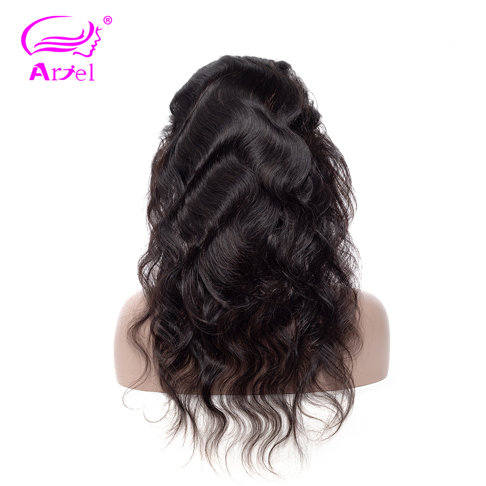 Ariel Human-Hair Frontal 360-Lace Body-Wave Non-Remy Pre-Plucked with Baby Mongolian