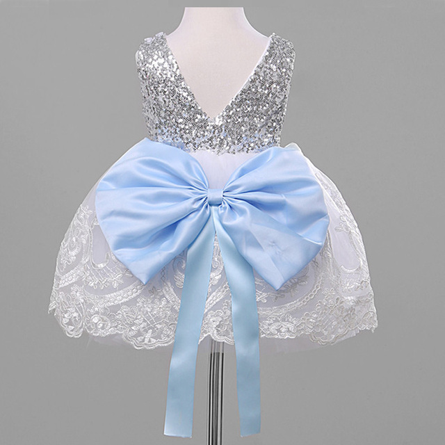 4668bc18617a kids Sleeveless Summer Princess Baby Girls Clothes Infant Party Dress  Birthday Frock Newborn Toddler Girl Gown Bowknot Lace