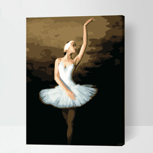 Dance ballet Frameless 16x20inch Pictures Paint By Numbers DIY Digital Oil Painting On Canvas 40x50cm