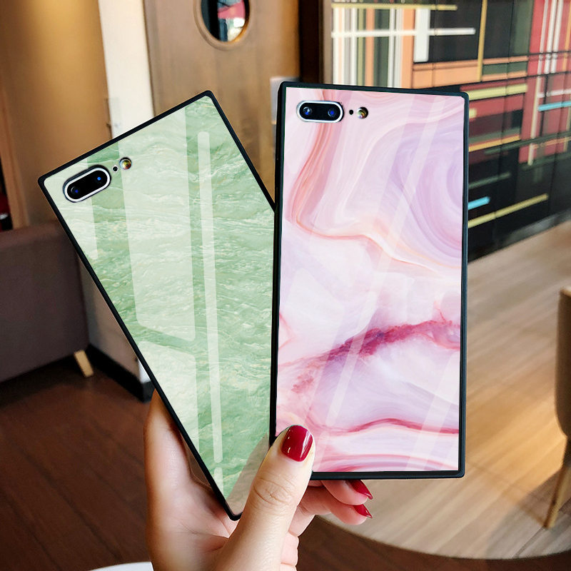 Luxury Marble Tempered Glass Case for iPhone 8 Case Marble Pattern Case for iphone X 6 6S 7 Plus Fundas Capinhas