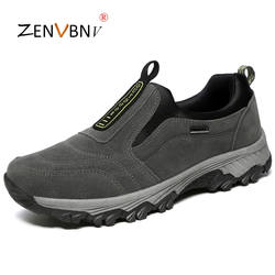 ZENVBNV осенне-весенние туфли мужские дышащие удобные повседневные туфли мужские большие размеры флок слипоны кроссовки модные безопасные