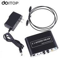 DOITOP 5.1 Ses Dişli Dijital Ses Decoder Converter Optik SPDIF/Koaksiyel Dolby AC3 DTS 5.1CH için Analog Ses DVD PC için #2