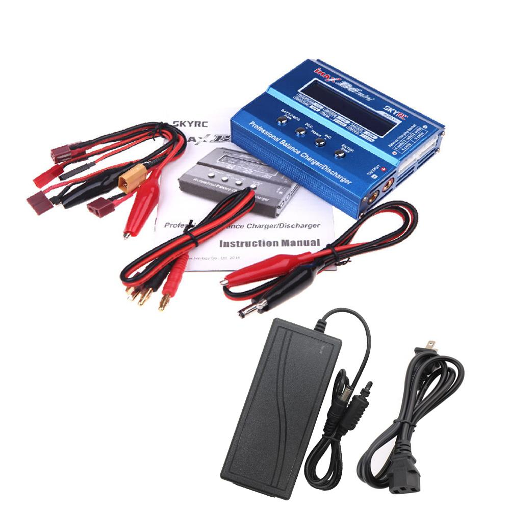 JMT SKYRC iMAX B6 Mini 60w Lipo Balance Charger Discharger & 12V5A AC Power Adapter for RC Battery Helicopter Drone