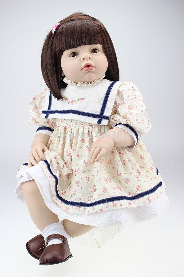 Fashion 28 Inch Silicone Vinyl Lovely Doll Reborn Lifelike Newborn Baby Dolls Realistic Babies Girl Children Birthday Gift