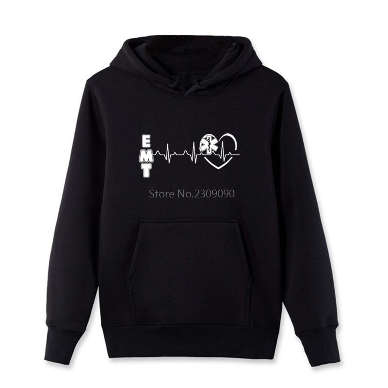 Emt heart Funny Hoodies Men Spring Autumn Brand Sweatshirt