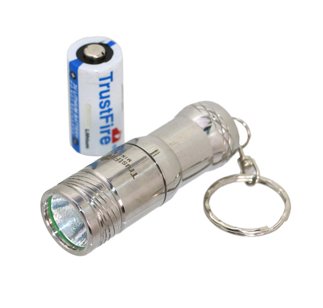 Led Flashlight Portable Lanterns Trustfire Mini Penlight * XML-L2 3 Mode Torch Keychain Waterproof Pocket Lamp CR123A Battery