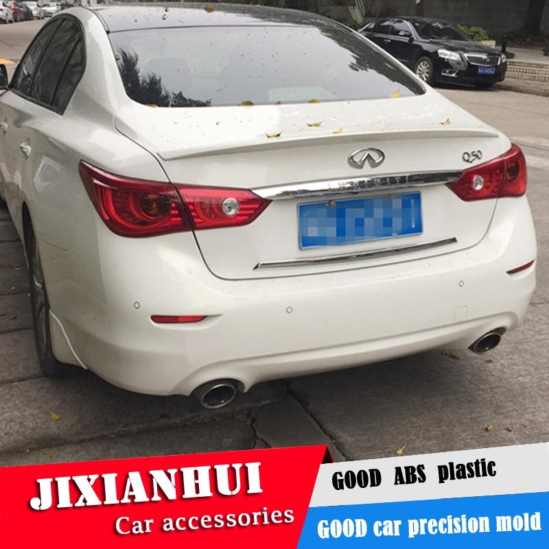 For 2014-2017 INFINITI Q50 Sedan Rear Trunk Spoiler Wing ABS Carbon Fiber