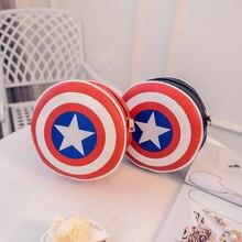 Captain America Tasche Heißer Verkauf Frauen Kupplungen PU Kleine Messenger Bags für Dame Captain America Schild Ledertasche Taschen