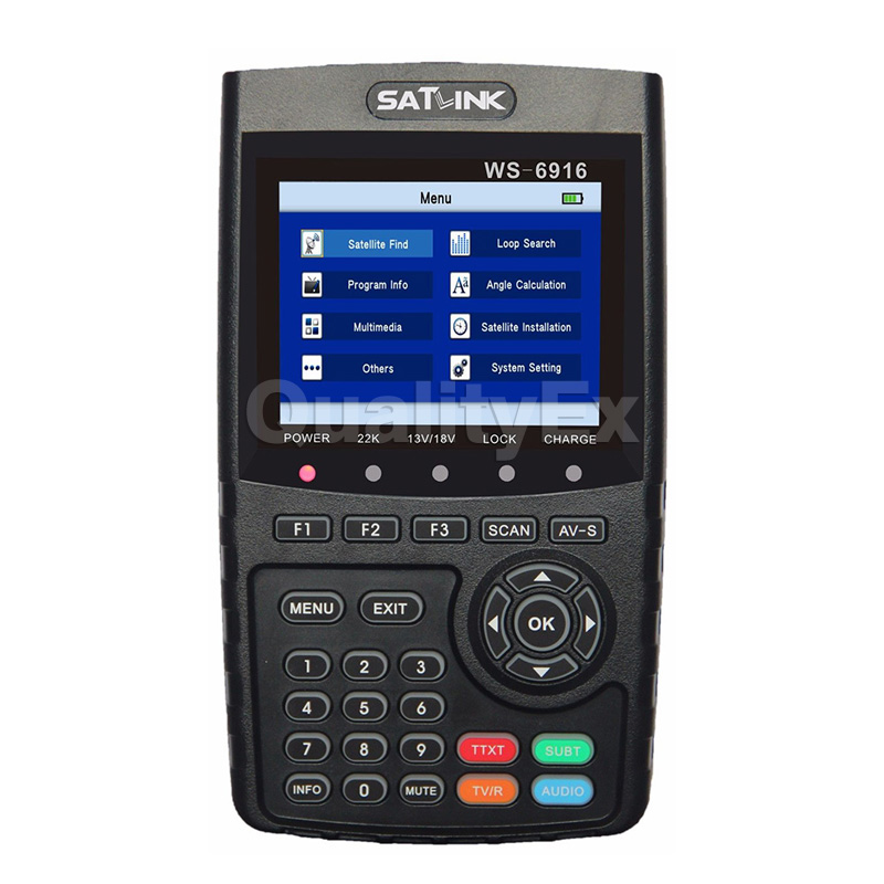 Original Satlink WS-6916 Digital Satellite Finder DVB-S/S2 High Definition MPEG-4 HD Meter with MPEG-2/MPEG-4 WS6916 Receiver anewkodi original satlink ws 6906 3 5 dvb s fta digital satellite meter satellite finder ws 6906 satlink ws6906