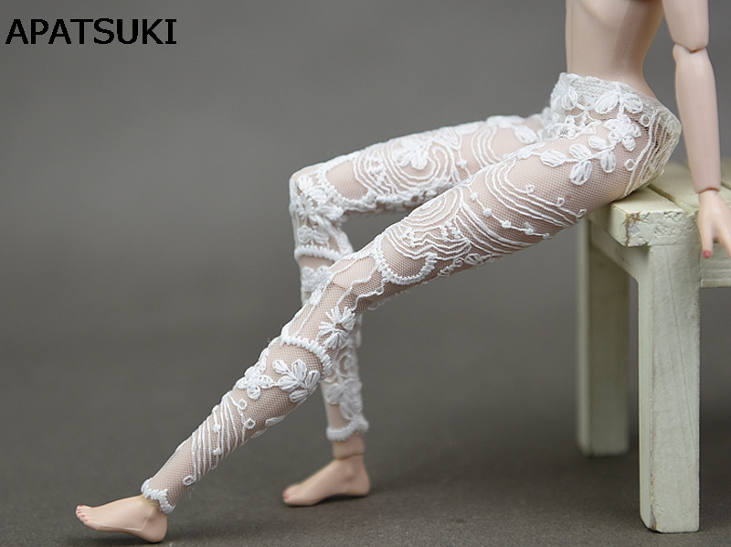 High Quality Handmade Lace Bottoms Pants For Barbie Doll Clothes Fashion Trousers Outfit For 1/6 Doll House Accessories
