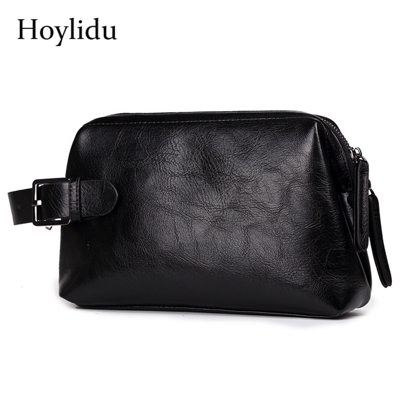 Fashion Men's PU Leather Casual Wallet Business Purse Large Capacity Zipper Clutch Bags Travel Hand Bag With Coin Money Pocket