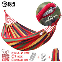 Canvas Double Hammock Cotton 2 People Hamac Widen Garden Swing Sleeping Hamak Rede De Dormir 200